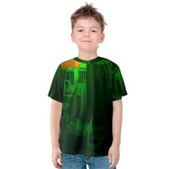 Green Building City Night Kids  Cotton Tee