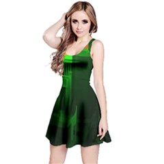 Green Building City Night Reversible Sleeveless Dress