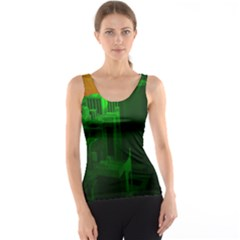 Green Building City Night Tank Top