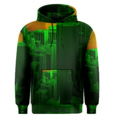 Green Building City Night Men s Pullover Hoodie