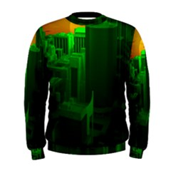 Green Building City Night Men s Sweatshirt