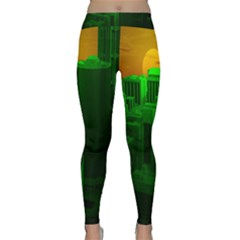Green Building City Night Classic Yoga Leggings