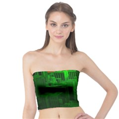 Green Building City Night Tube Top