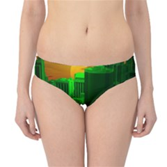 Green Building City Night Hipster Bikini Bottoms