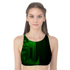 Green Building City Night Tank Bikini Top