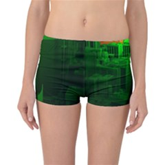 Green Building City Night Reversible Boyleg Bikini Bottoms