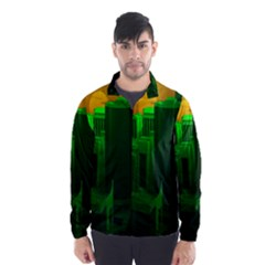 Green Building City Night Wind Breaker (Men)