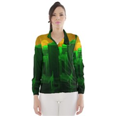 Green Building City Night Wind Breaker (Women)