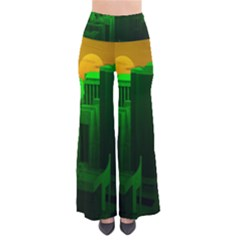 Green Building City Night Pants