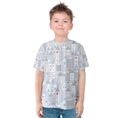 Houses Pattern Kids  Cotton Tee