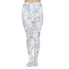 Houses Pattern Women s Tights