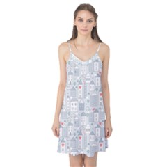 Houses Pattern Camis Nightgown