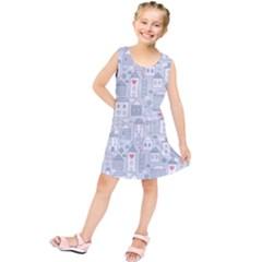 Houses Pattern Kids  Tunic Dress