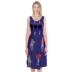 Drake Ugly Holiday Christmas Midi Sleeveless Dress