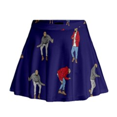 Drake Ugly Holiday Christmas Mini Flare Skirt