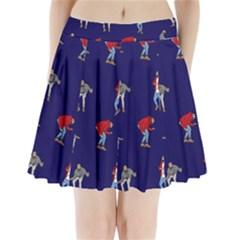 Drake Ugly Holiday Christmas Pleated Mini Skirt