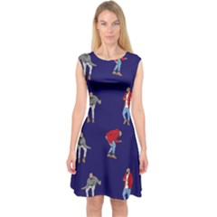 Drake Ugly Holiday Christmas Capsleeve Midi Dress
