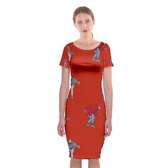 Drake Ugly Holiday Christmas   Classic Short Sleeve Midi Dress