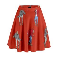 Drake Ugly Holiday Christmas   High Waist Skirt