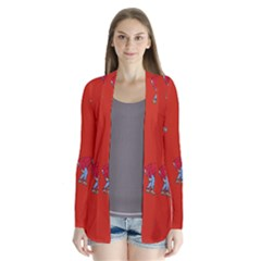 Drake Ugly Holiday Christmas   Drape Collar Cardigan