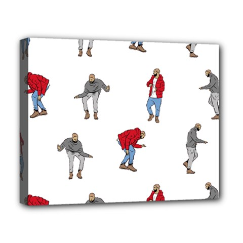 Drake Ugly Holiday Christmas Deluxe Canvas 20  x 16