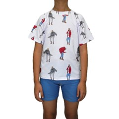 Drake Ugly Holiday Christmas Kids  Short Sleeve Swimwear