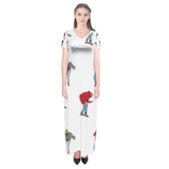Drake Ugly Holiday Christmas Short Sleeve Maxi Dress