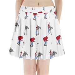 Drake Ugly Holiday Christmas Pleated Mini Skirt