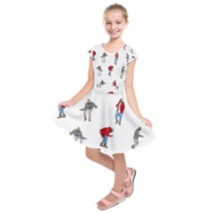 Drake Ugly Holiday Christmas Kids  Short Sleeve Dress