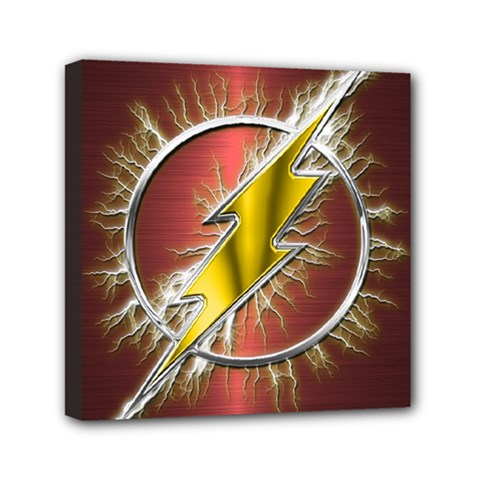 Flash Flashy Logo Mini Canvas 6  x 6