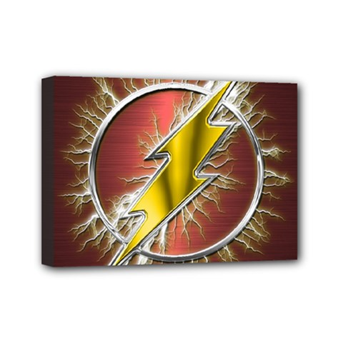 Flash Flashy Logo Mini Canvas 7  x 5
