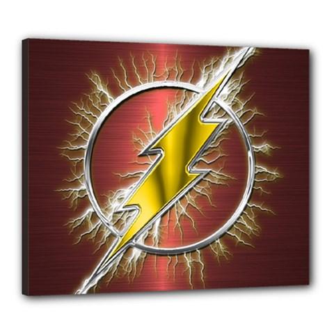 Flash Flashy Logo Canvas 24  X 20