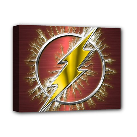 Flash Flashy Logo Deluxe Canvas 14  x 11