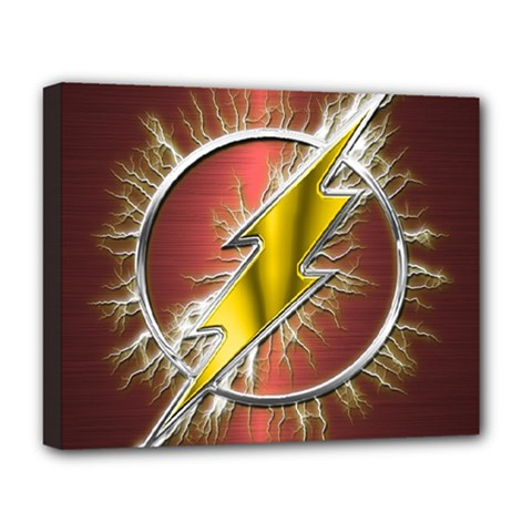 Flash Flashy Logo Deluxe Canvas 20  x 16