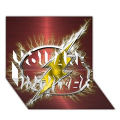 Flash Flashy Logo YOU ARE INVITED 3D Greeting Card (7x5)