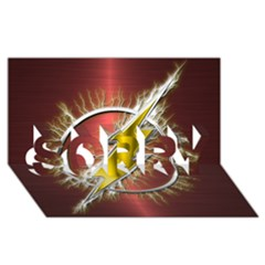 Flash Flashy Logo SORRY 3D Greeting Card (8x4)