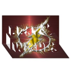 Flash Flashy Logo Best Wish 3D Greeting Card (8x4)