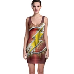 Flash Flashy Logo Sleeveless Bodycon Dress
