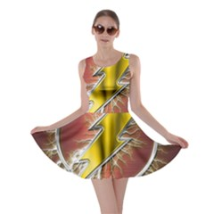Flash Flashy Logo Skater Dress
