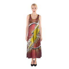 Flash Flashy Logo Sleeveless Maxi Dress