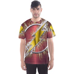 Flash Flashy Logo Men s Sport Mesh Tee