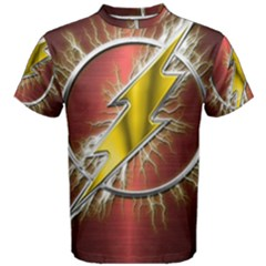 Flash Flashy Logo Men s Cotton Tee