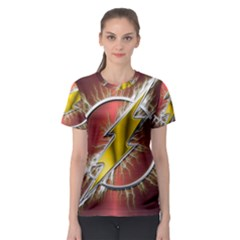 Flash Flashy Logo Women s Sport Mesh Tee