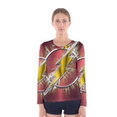 Flash Flashy Logo Women s Long Sleeve Tee