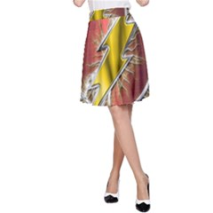 Flash Flashy Logo A-Line Skirt