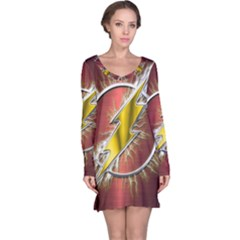 Flash Flashy Logo Long Sleeve Nightdress