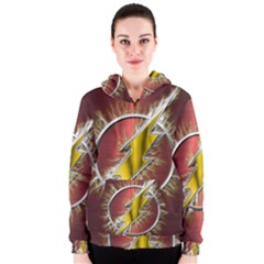 Flash Flashy Logo Women s Zipper Hoodie