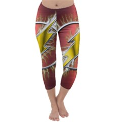 Flash Flashy Logo Capri Winter Leggings