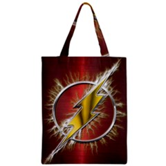 Flash Flashy Logo Zipper Classic Tote Bag