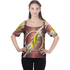 Flash Flashy Logo Women s Cutout Shoulder Tee